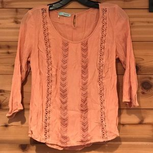 Maurices pink blouse